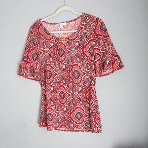 🧚🏻Red Paisley Blouse